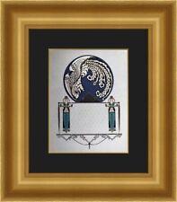 Erte - Blue Asia Custom Framed Print FREE SHIPPING