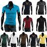 Herren Poloshirt Kurzarm T-shirt Slim Fit Polohemd Sommer Hemd Tops Freizeithemd