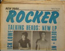"Ny Rocker ""Talking Heads: New Lp"" Devo, Brian Eno+ 1970S Newspaper Nr"