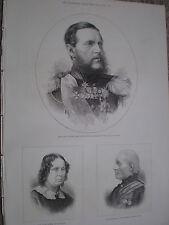 Russia Turkey war Grand Duke Constantine admiral Russian fleet 1877 print rf W