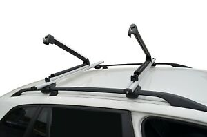 Alloy Ski Snow Board Carrier Holders Roof Rack Mounted Lockable 78cm Large Size