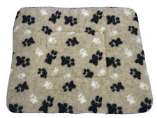FLEECE DOG OR CAT MAT IN BEIGE - MACHINE WASHABLE MEDIUM 37' X 29' COSY DOG BED