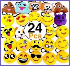 Ohill 24 Pack Mini Emoticon Plush Keychain For Party Favor Supplies Home Decorat