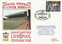 10 NOVEMBER 1992 LIVERPOOL CENTENARY YEAR GREETINGS DAWN FOOTBALL COVER
