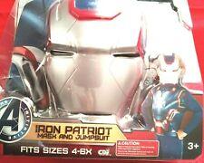 "Iron Man 3 Iron Patriot ""Mask & Jumpsuit"" Fits Sz 4-6X New 3+"