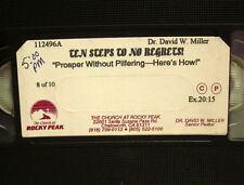 DAVID MILLER instructional 10 Steps to No Regrets prosper Christian Business VHS
