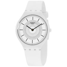 Swatch Skin Skinpure White Dial Silicone Strap Ladies Watch SVOW100