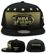 Chicago Bulls New Mitchell & Ness 1998 NBA Finals Black Era Snapback Hat Cap