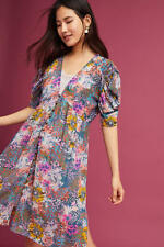 Anthropologie AKEMI KIN MP Dress VALENCIA 2-Piece Lace Slip Floral Button Front