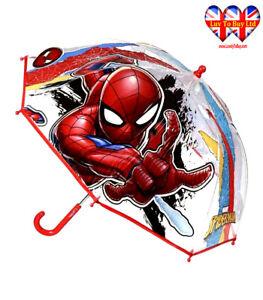 Spiderman Umbrella,Dome Umbrella,Transparent Umbrella,Official Licensed