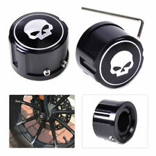 Front Axle Skull Nut Wheel Cover Cap For Harley Softail Dyna Sportster 883 1200