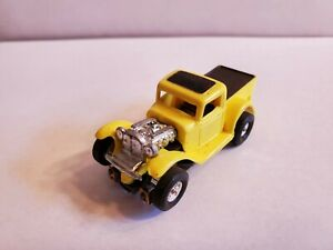 32 FORD TRUCK,YELLOW, HO Slot Car NEW  REPO BODY & NOS AURORA SLIM LINE CHASSIS
