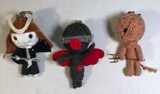 String Voodoo Keychain Lot/3 Ninja Angel Devil Collectible Figurine