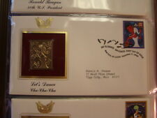 2005 LET DANCE CHA CHA CHA 22kt Gold STAMP replica INFO CARD