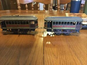 gunthermann clockwork power and trailer trolley wind up tin toy