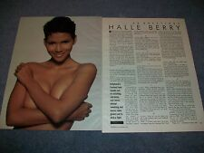 Model & Actress Halle Berry 20 Questions Interview Article