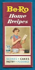 """C1950s BE-RO """"HOME RECIPES"""" BOOKLET BE-RO FLOUR ETC"""