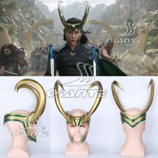 New Thor 3 Ragnarok Loki Helmet Cosplay PVC Helm Head Horn Halloween Comic con