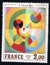 1 FRANCOBOLLO FRANCIA ARTE DELAUNAY 1976 usato (BFR338)