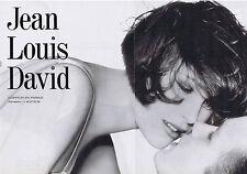 PUBLICITE ADVERTISING 094 1989 JEAN LOUIS DAVID coiffeur en France  (2 pages)