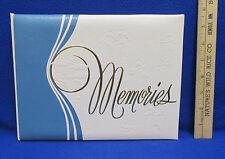 Memories Scrapbook Album Leather Keepsake Photos High School Graduation Cards