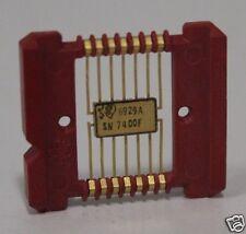 Rare Vintage Flatpack TI IC SN7400F 6929A Gold SN 7400F