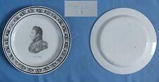 Assiette en Faïence Fine de CHOISY: Duc de BERRY / PériodeP & H début XIXè