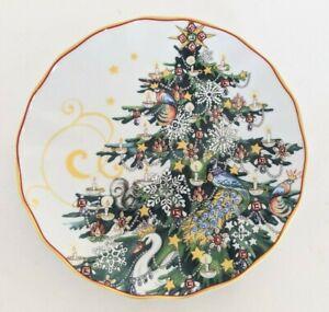 set/4 New Williams Sonoma Twas Night Before Christmas Tree salad plates