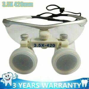 3.5X 420mm Dentist Loupes Dental Magnifier Glass Surgical Binocular Portable