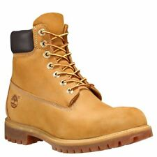 Timberland Mens 6 Inch Classic Leather Boots Trainers Wheat (10061)