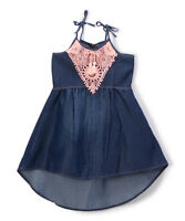 Limited Too Blue Denim Girl's Dress with Lace Size 3T Girls Toddler NWT $38