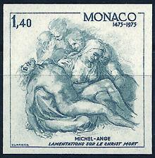 MONACO n° 1034 MICHEL-ANGE Christ Religion non dentelé imperf, superbe **