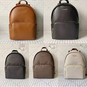 Michael Kors Erin Large Double Strap Backpack Signature MK Leather School Bag
