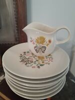 RARE! Vintage Kenmark China Gracious Living Bread 9 piece Made in USA Real China