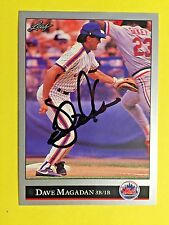 1992 Leaf #306 Dave Magadan NY Mets Auto Signed autograph