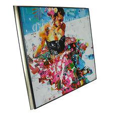 All Summer Long Derek Gores 24x24 Collage Art Poster Print Reproduction Framed