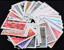 50pcs Fiore Design Trasferimento Ad Acqua Decalcomanie Fai da te Nail Art Tips Adesivi Decorazione