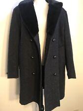 Mens long work coat Imperial by Haggar 42 Regular Overcoat wool NEW NWT grey