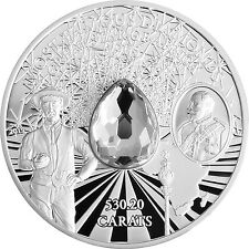 Cook Islands 2015 10$ Great Star of Africa Diamond 2oz Silver Coin Proof