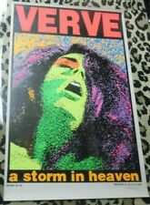 """VERVE """"A Storm In Heaven"""" AUTOGRAPHED BY FRANK KOZIK DAY-GLO Poster 22 x 35"""""""