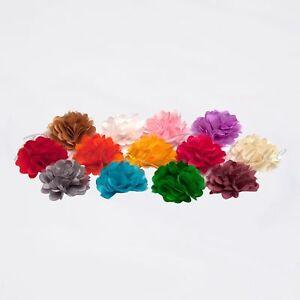 "2"" Carnation flower satin & tulle tutu dress hairbow wedding craft embellishment"