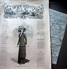 LA MODE ILLUSTREE + PATRON,  n° 39/1909 Voir modèles à réaliser, FRENCH PATTERN
