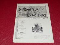 [REVUE EXPOSITION UNIVERSELLE 1900] LE MONITEUR DE 1900 N° 83 #  AOUT 1900