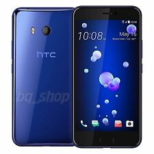 "HTC U11 Blue Dual 128GB 5.5"" 6GB RAM 16MP Octa Core IP67 Android Phone By FedEx"