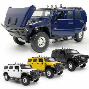 1:32 2005 Hummer H2 SUV Model Car Diecast Gift Toy Vehicle Kids Sound Light
