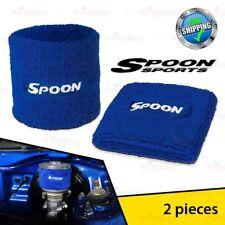 2PCS SPOON Clutch Brake Reservoir Oil Cap Tank Cover Sock Acura Honda Accord NSX
