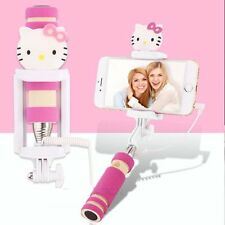 Hello Kitty Shutter Extendable Selfie Stick Handheld Monopod Phone Camera Holder