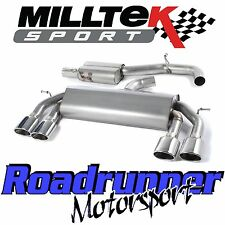 "Milltek SSXVW308 VW Golf R MK7 Cat Back Exhaust 3"" Course Système Resonated Polish"