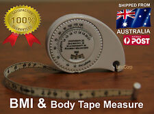 BMI  BODY MASS INDEX & TAPE MEASURE - health & fat calculator, Gym, free postage