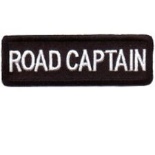 ROAD CAPTAIN BLACK 1 X 3 CLUB EMBROIDERED IRON ON BIKER PATCH